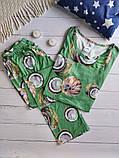 """П21029 Жіноча піжамка """"Кокоси"""" різні кольори, фото 9"""