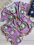 """П21029 Жіноча піжамка """"Кокоси"""" різні кольори, фото 6"""