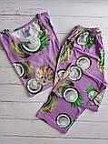 """П21029 Жіноча піжамка """"Кокоси"""" різні кольори, фото 7"""