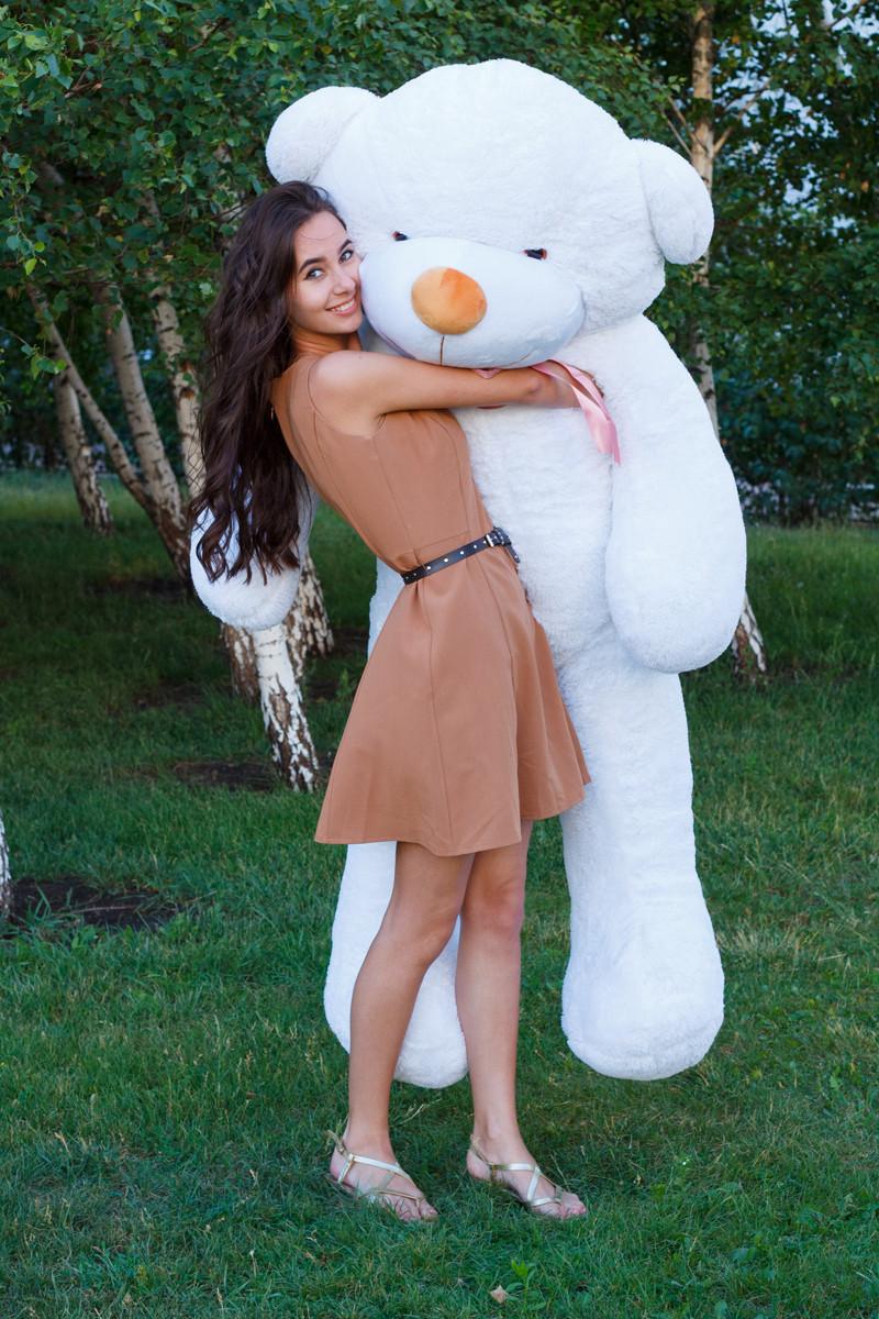 Виликий плюшевий ведмідь Тедді. Мяка іграшка ведмідь. Плюшевий ведмідь 2 метри