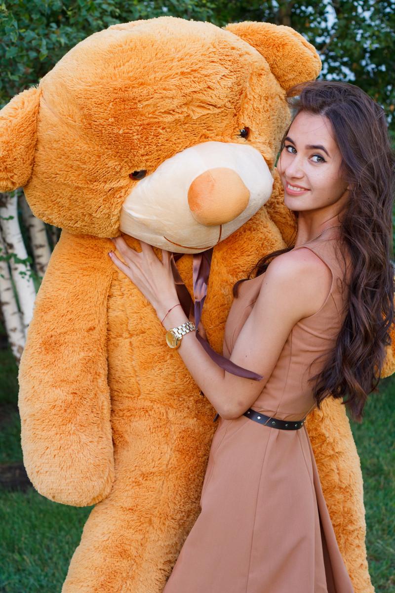 Плюшевий Ведмедик 2 метри. Великий Плюшевий Ведмідь. Велика М'яка іграшка Плюшевий Ведмедик 200