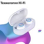 Беспроводные наушники с Селфи палкой блютуз гарнитура Bluetooth 5.0 Wi-pods TW60 Pro Белые, фото 3