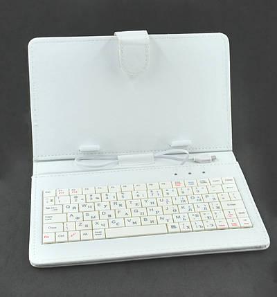 "Чехол для планшета с клавиатурой 7"" white MICRO USB, фото 2"