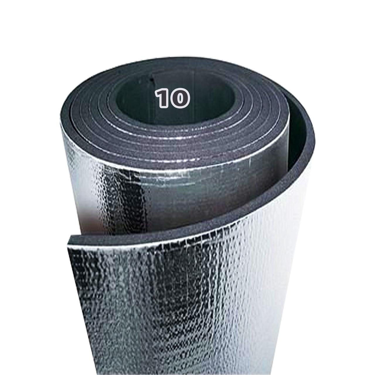 Химически сшитый вспененный полиэтилен, самоклеящийся, фольгированный 10 мм