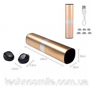 Беспроводные bluetooth наушники HBQ S2 Power Bank 1200 mah Gold