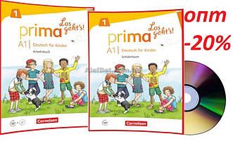 Немецкий язык / Prima Los geht's / Schülerbuch+Arbeitsbuch+CD. Учебник+Тетрадь (комплект), A1.1 / Cornelsen
