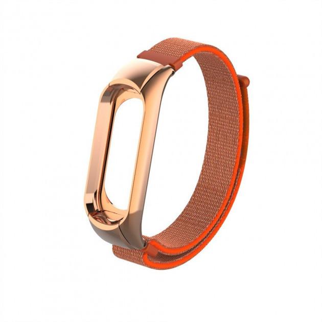 Ремінець фітнес браслета Xiaomi до Xiaomi Mi Band 3 Gasta Nylon Orange
