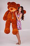 Виликий плюшевий ведмідь. Мяка іграшка ведмідь. Мякий ведмідь 180 см. Тедді коричневий, фото 6