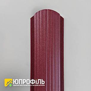 ✅ Штахетник металевий Бордовий RAL 3005 матовий двосторонній, фото 2