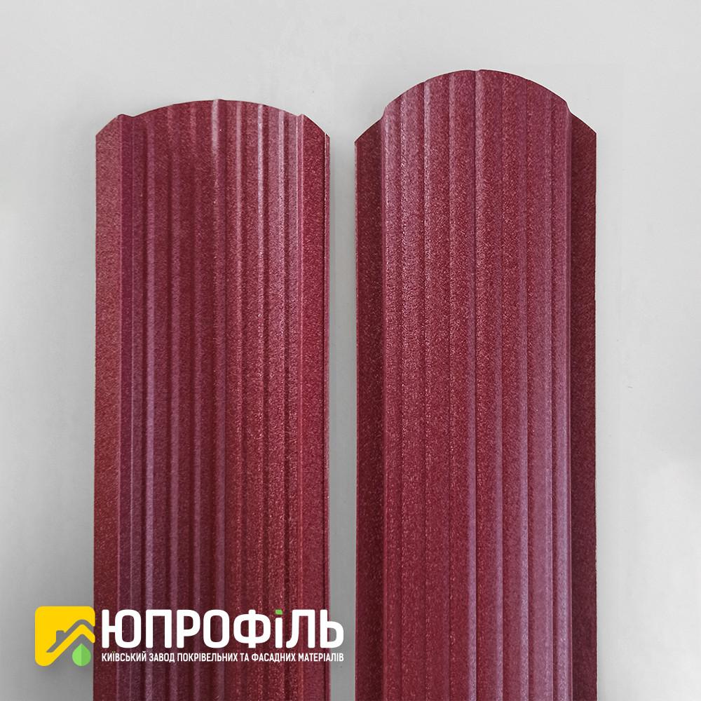 ✅ Штакетник металлический Бордовый RAL 3005 матовый двухсторонний