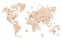 Дерев'яна модель Карта світу XXL / Деревянная модель Карта мира XXL