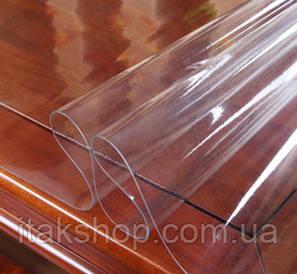 Скатерть Мягкое стекло для стола и мебели Soft Glass (3.1х1.5м) толщина 0.5 мм Прозрачная