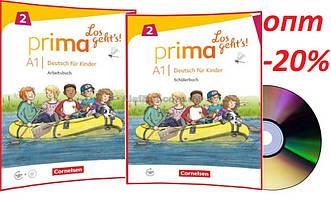 Немецкий язык / Prima Los geht's / Schülerbuch+Arbeitsbuch+CD. Учебник+Тетрадь (комплект), A1.2/ Cornelsen