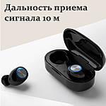 Беспроводные наушники Wi-pods TW60 Pro наушники-блютуз гарнитура. Черные, фото 6
