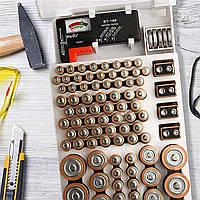 Универсальный тестер заряда батареек BT-168 с органайзером для батареек