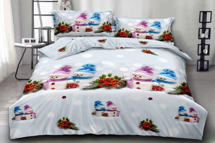 Двуспальный комплект постельного белья евро 200*220 хлопок  (15871) TM KRISPOL Украина, фото 2