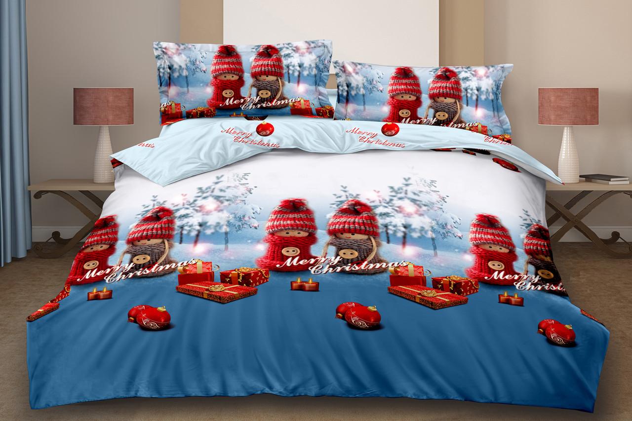 Двуспальный комплект постельного белья евро 200*220 хлопок  (15872) TM KRISPOL Украина