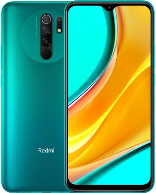 "Xiaomi Redmi 9 3/32Gb Green 6.53"" 5020мАч, квад камера, NFC, Type-C ЕВРОПА UA UCRF смартфон ксяоми редми 9"