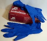 Перчатки AMBULANCE медицинские синие латексные 50шт (25пар), Рукавиці Амбуланс медичні сині латексні