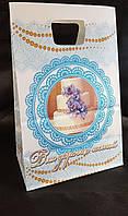 Свадебный бумажный пакет для каравая, торта. (уп. / 100 шт). (Весільний паперовий пакет на коровай, торт)