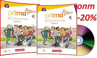Немецкий язык / Prima Los geht's / Schülerbuch+Arbeitsbuch+CD. Учебник+Тетрадь (комплект), A1.3/ Cornelsen