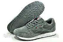 Reebok Classic Leather мужские кроссовки серые, фото 2