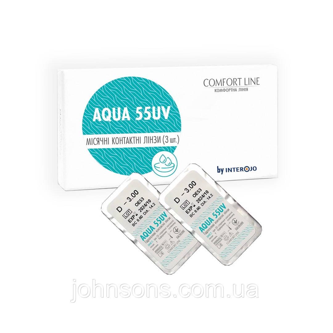 Контактные линзы Aqua 55UV 1шт