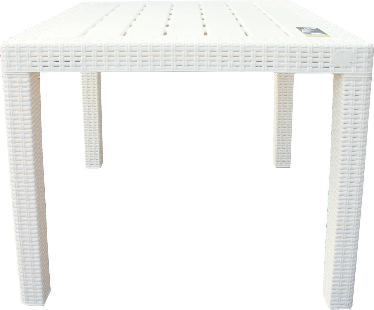 Стол пластиковый малый Rattan 789х789х701мм сливочный