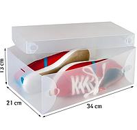 Коробка пластикова для зберігання чоловічого, жіночого та дитячого взуття Tatkraft Glasgow 16118
