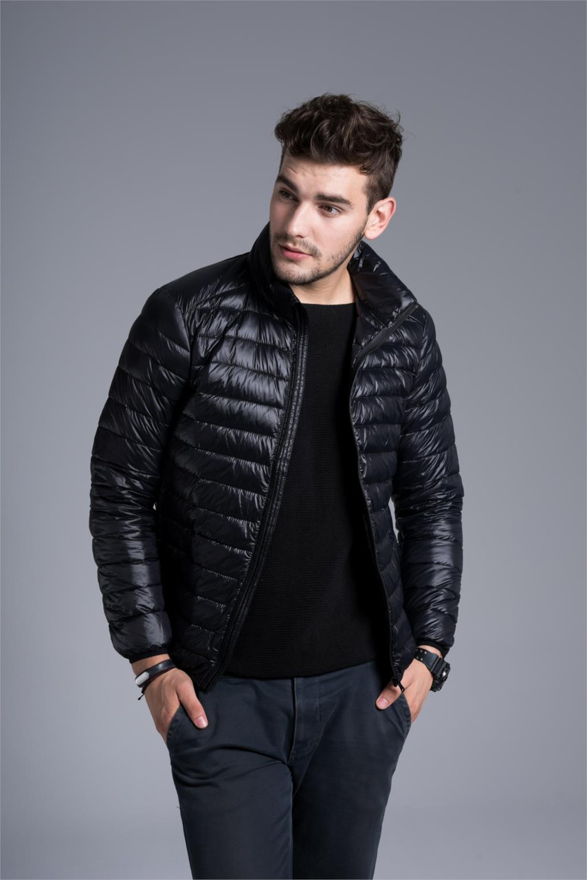 Чоловіча демісезонна куртка-пуховик. Модель 723-н