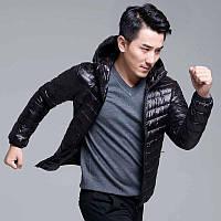 Чоловіча демісезонна куртка-пуховик. Модель 723-н, фото 3