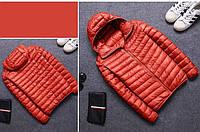 Чоловіча демісезонна куртка-пуховик. Модель 723-н, фото 5