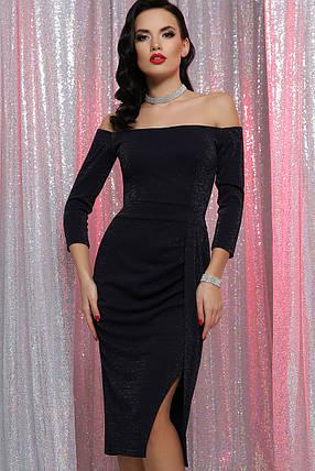 Красивое синее вечернее платье Размеры S M XL, фото 2