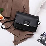 Женская классическая сумка на ремешке через плечо 031/11 черная, фото 2