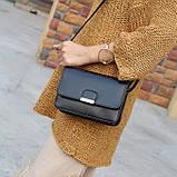 Женская классическая сумка на ремешке через плечо 031/11 черная, фото 3