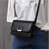 Женская классическая сумка на ремешке через плечо 031/11 черная, фото 4