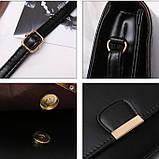 Женская классическая сумка на ремешке через плечо 031/11 черная, фото 6
