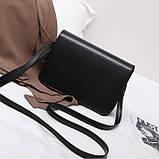 Женская классическая сумка на ремешке через плечо 031/11 черная, фото 7