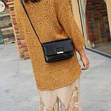 Женская классическая сумка на ремешке через плечо 031/11 черная, фото 9