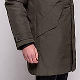 Чоловіча зимова куртка Stone Island, кавового кольору., фото 4
