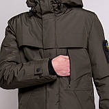 Чоловіча зимова куртка Stone Island, кавового кольору., фото 7