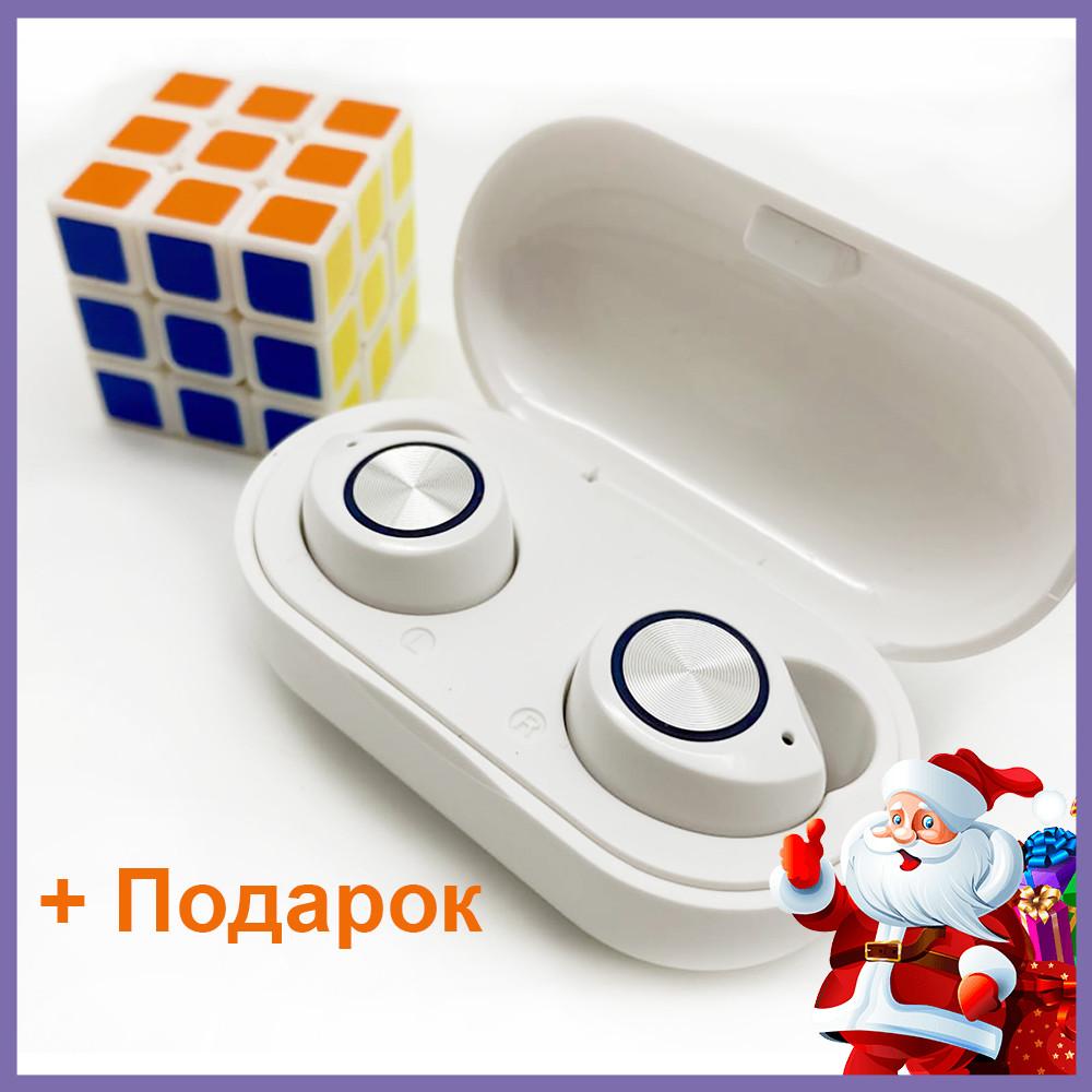 Беспроводные наушники с Селфи палкой блютуз гарнитура Bluetooth 5.0 Wi-pods TW60 Pro Белые