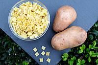 Бланшований картопля кубиком 3*10 клас