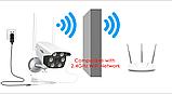 Камера видеонаблюдения беспроводная уличная IP с WiFi/ИК-подсветка/датчик движения  UKC 3020, фото 6