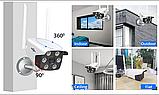 Камера видеонаблюдения беспроводная уличная IP с WiFi/ИК-подсветка/датчик движения  UKC 3020, фото 2