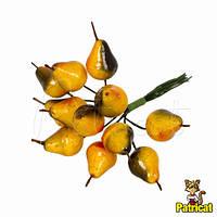 Декоративные груши оранжевые 1 шт на проволоке