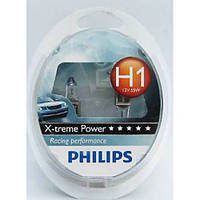 Галогенная лампа Philips X-treme Power (+80% света дополнительно) H1 12V 12258XVS2 (2шт.)