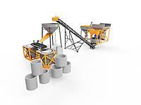 Бетонный завод 4BUILD COMPACT-20 по изготовлению железобетонных колец