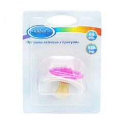 Пустушка з прикусом. 0-6 міс. (рожевий) Pk 012/0-6