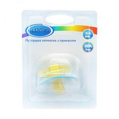 Пустушка з прикусом. 0-6 міс. (блакитний) Pk 012/0-6